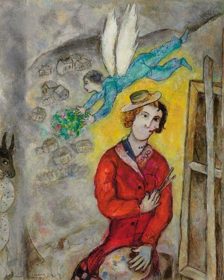 Marc Chagall 'Autoportrait', 1939 https://t.co/2kEZicIp1J