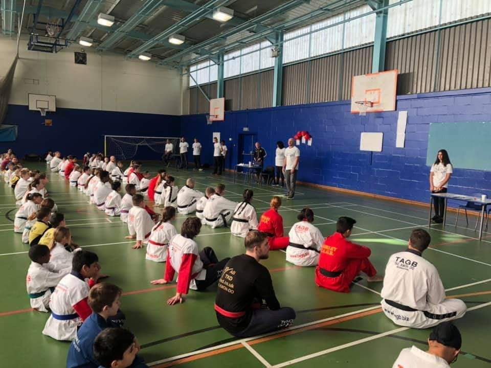test Twitter Media - Thankyou Mrs Karimi for sharing some photos of Hollywood children participating in a charity Tae Kwon Do event outside school. 2 of them had to fight each other. https://t.co/ax4KmCy2TI