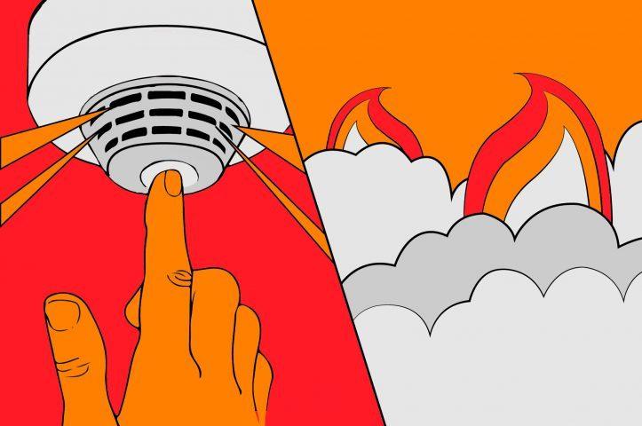 De studenten op Kralingse Zoom hebben vanmorgen hun tentamens moeten onderbreken door een brandalarm.