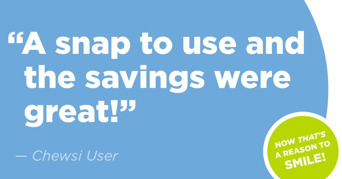 Happy Friday! Check out why this user loves Chewsi. #Chewsidental #savings #dental #app https://t.co/9nU9yz76pu