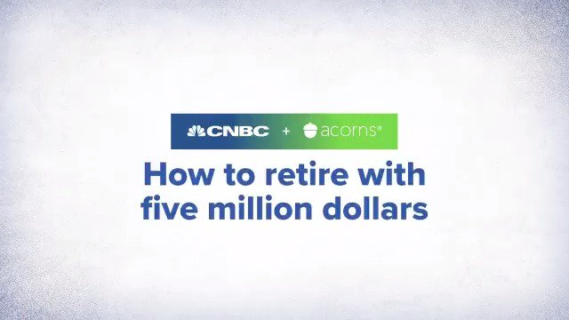 Retiring with $5,000,000 might sound impossible, but it can be done. Whether you're 20 or 40, here's how much you'll need to save each month to get there.  #investinyou (In partnership with @acorns.)