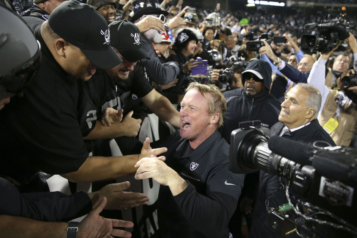 test Twitter Media - Raiders' turnaround in 2019 starts with Jon Gruden, a dark horse for Coach of the Year #RaiderNation #NFL #NFLtwitter   https://t.co/m4tyBrIPhR https://t.co/QdE06t3PNX