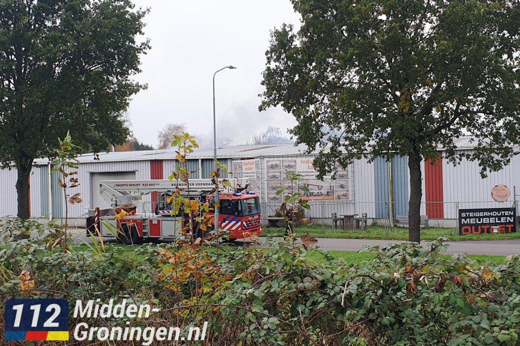 Grote brand bij bedrijf aan Meihuizenweg inWildervank..