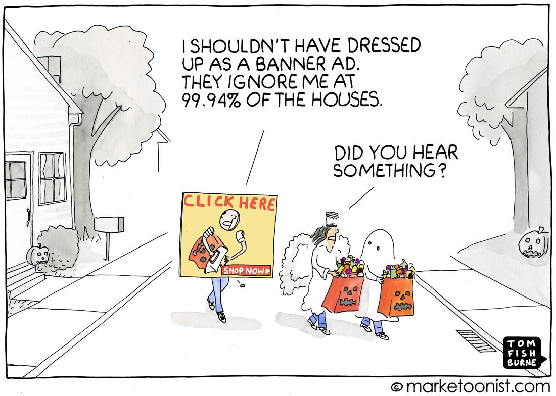 "Classic #Halloween #MarTech frame from @tomfishburne @marketoonist.  ""I got a rock."" https://t.co/8DBCrb6SNd"