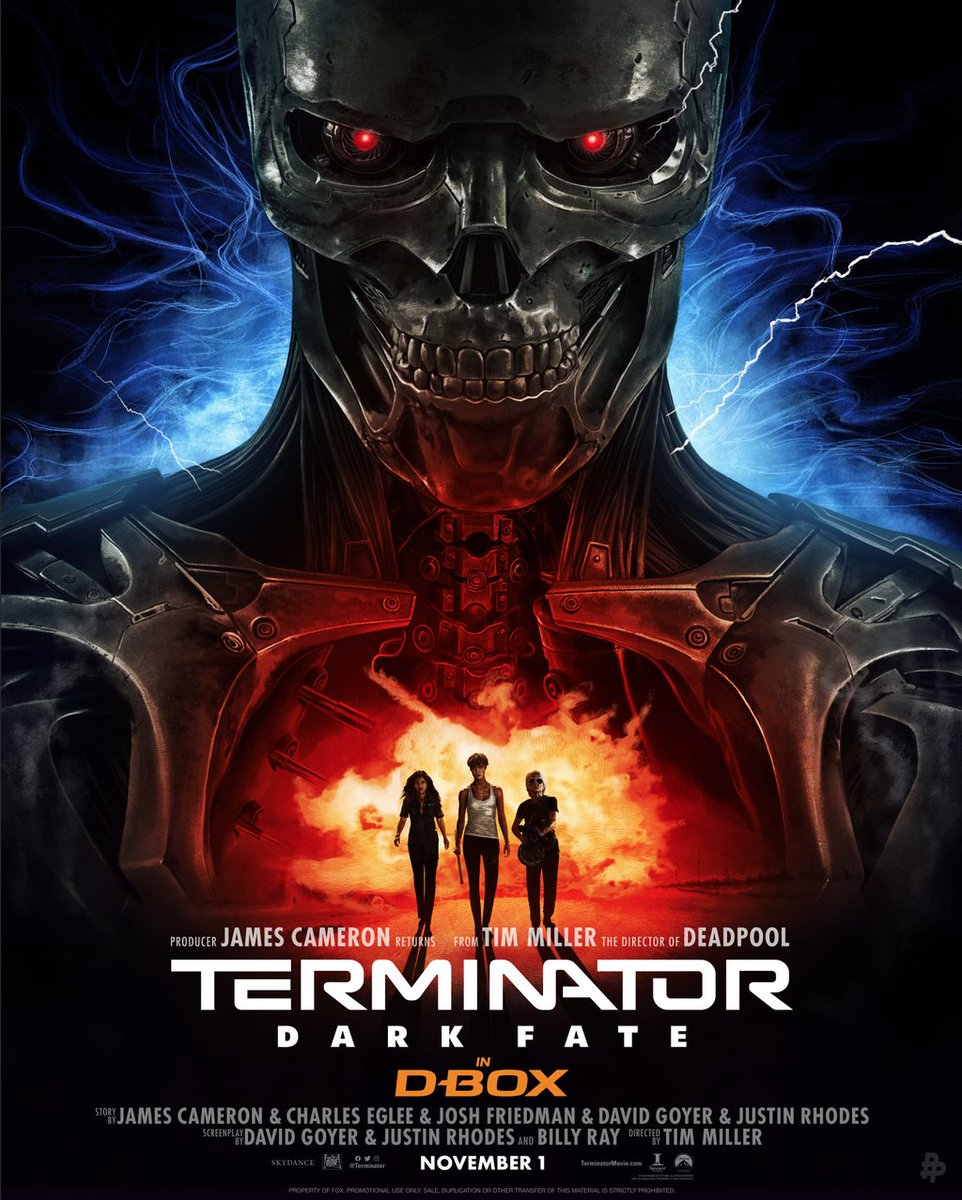 test Twitter Media - Face your fate. Our exclusive art for #TerminatorDarkFate is in! Thanks to @AdStothard! Feel it in #DBOX November 1: https://t.co/zdJqQGumzZ  //  Notre affiche exclusive pour #TerminatorDarkFate est là! Merci à Adam Stothard pour le design. Vivez ce film en D-BOX le 1 novembre. https://t.co/t4qK5ZalpC
