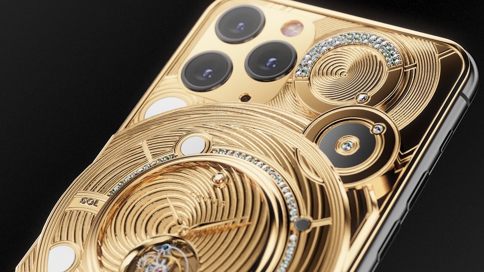 ,000 iPhone 11 Pro has a gold-encrusted watch on the