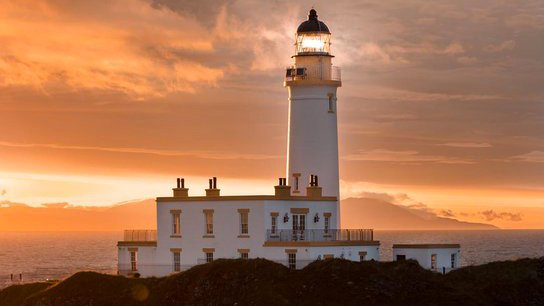 No need for Jack-O-Lanterns when you have the @TrumpTurnberry Lighthouse and vibrant Scottish sunsets 🎃