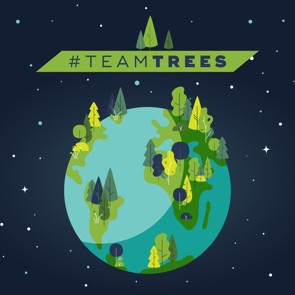 One of my most favorite things in the whole wide world is the trees. Get #TeamTrees to their goal of planting 20 million trees by January 1, 2020! 🌲