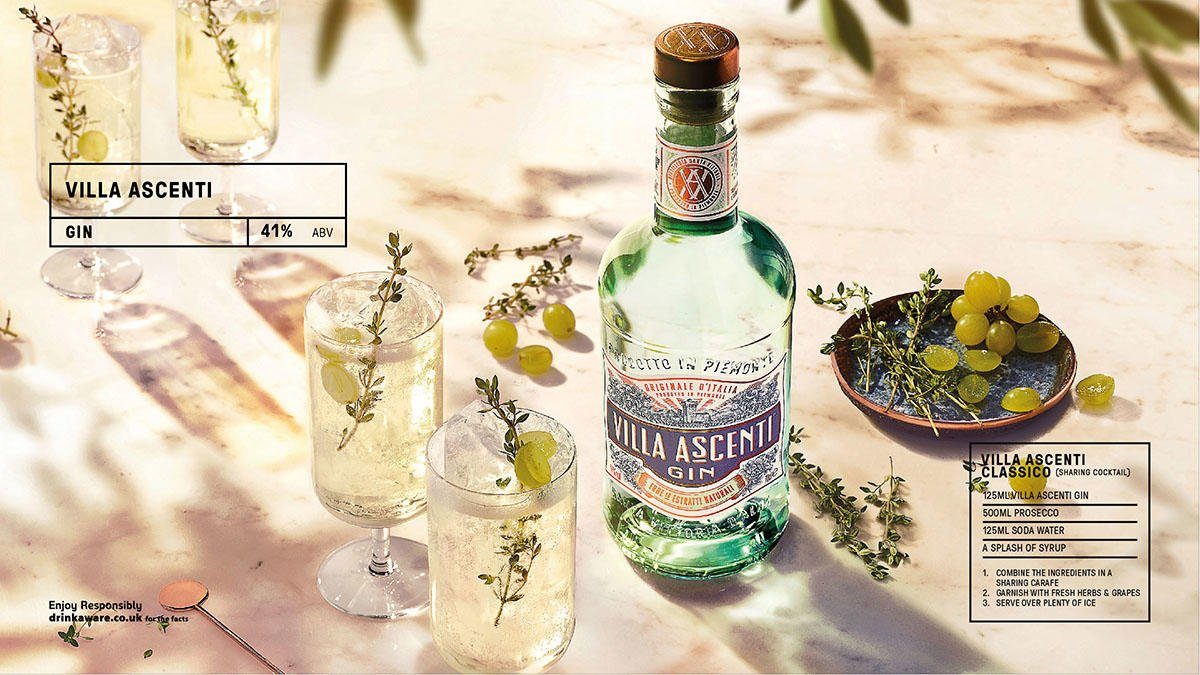 Villa Ascenti, a super-premium Italian gin. It's seriously smooth with a soft sweetness and a flurry of summer fruit on the finish. Terrific lengthened with tonic and magnificent in a Martini. #Gin #Food  Download our new supplement https://t.co/0RYlz3Agx4 https://t.co/F1CrlfmLV2