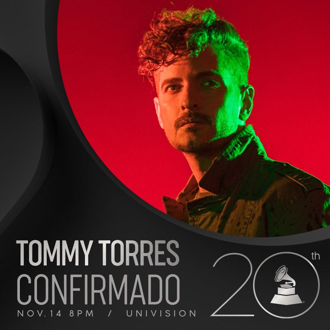 ¡CONFIRMADO! @Tommy_Torres participará como presentador en la 20a Entrega Anual del #LatinGRAMMY 14 DE NOV. 8PM @Univision @MGMGrand 🎶👏👏#20AñosDeExcelencia