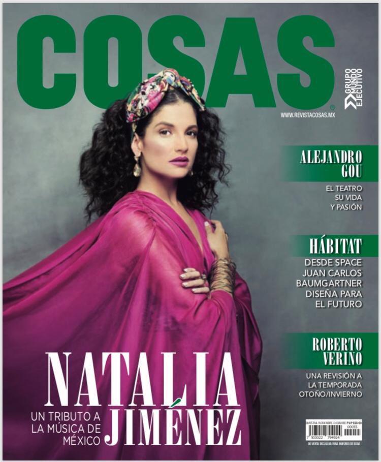 ¡En portada! @NataliaJimenez en la revista @RevistaCosasMx de noviembre. 👌