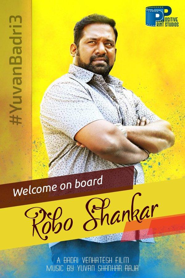 Ivar irukrapo definita comedy ku panjamae irukathu😂 We are excited and happy to have @ActorRoboSankar onboard #YuvanBadri3 🤩  @rio_raj @nambessan_ramya @dirbadri @thisisysr @karnamurthyac @sinthanl @DoneChannel1 @gobeatroute