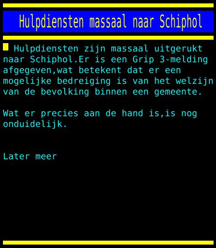 test Twitter Media - Hulpdiensten massaal naar Schiphol https://t.co/fTvCxHVPA5
