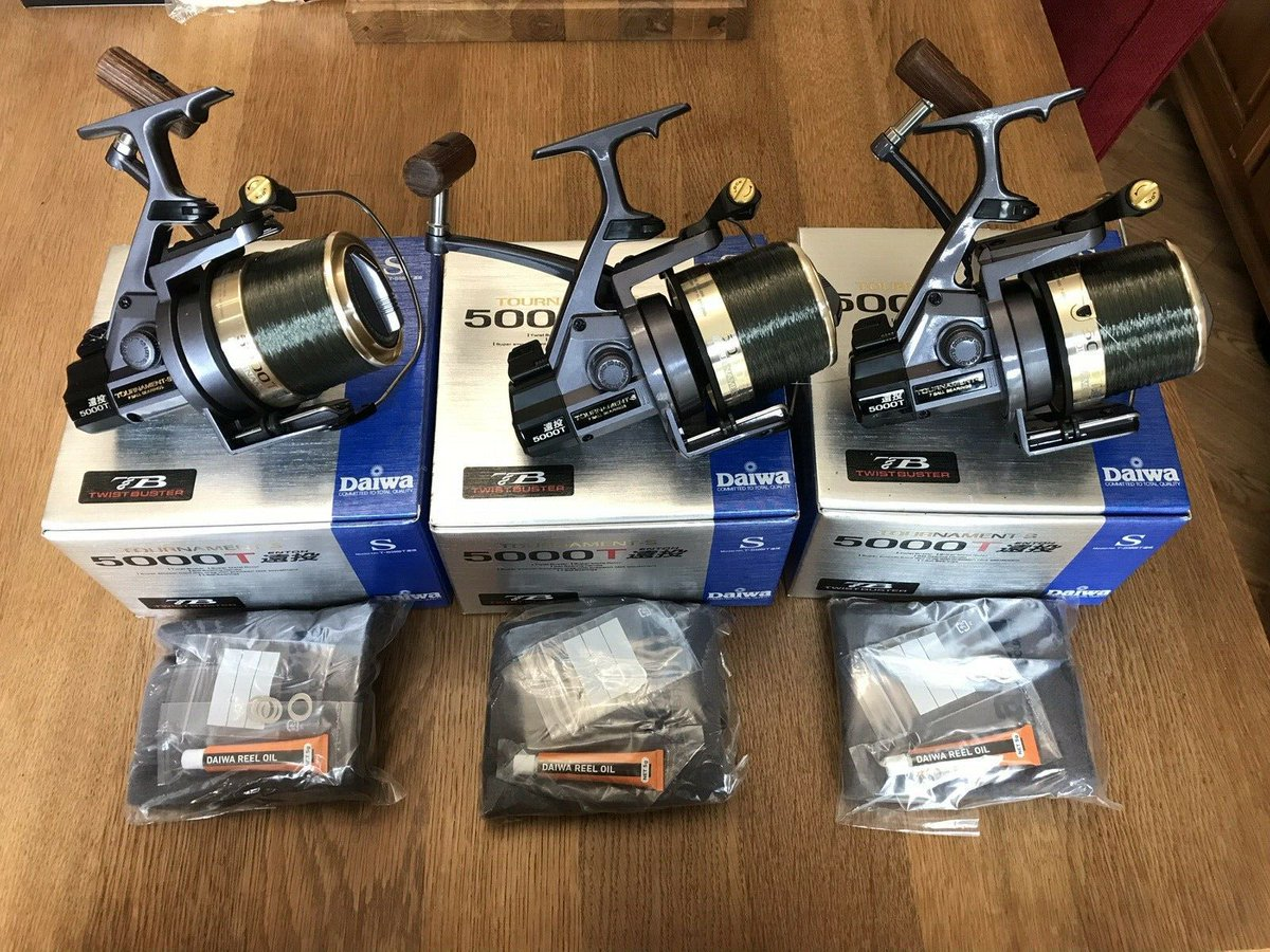 Ad - 3x Daiwa Tournament 5000T Reels On eBay here -->> https://t.co/W0TPBCaUEe  #carpfishing h