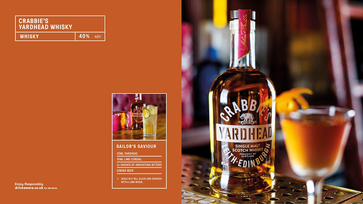 Crabbie's Yardhead Whisky is a modern dram deliberately designed to disrupt the world of Scottish single malts. Vanilla comes from the American whiskey casks, while fresh fruit, vibrant citrus notes and a rich rum-like mellow finish. #Whisky #Food  https://t.co/jWngVszMNW https://t.co/DMg0DEFsRt