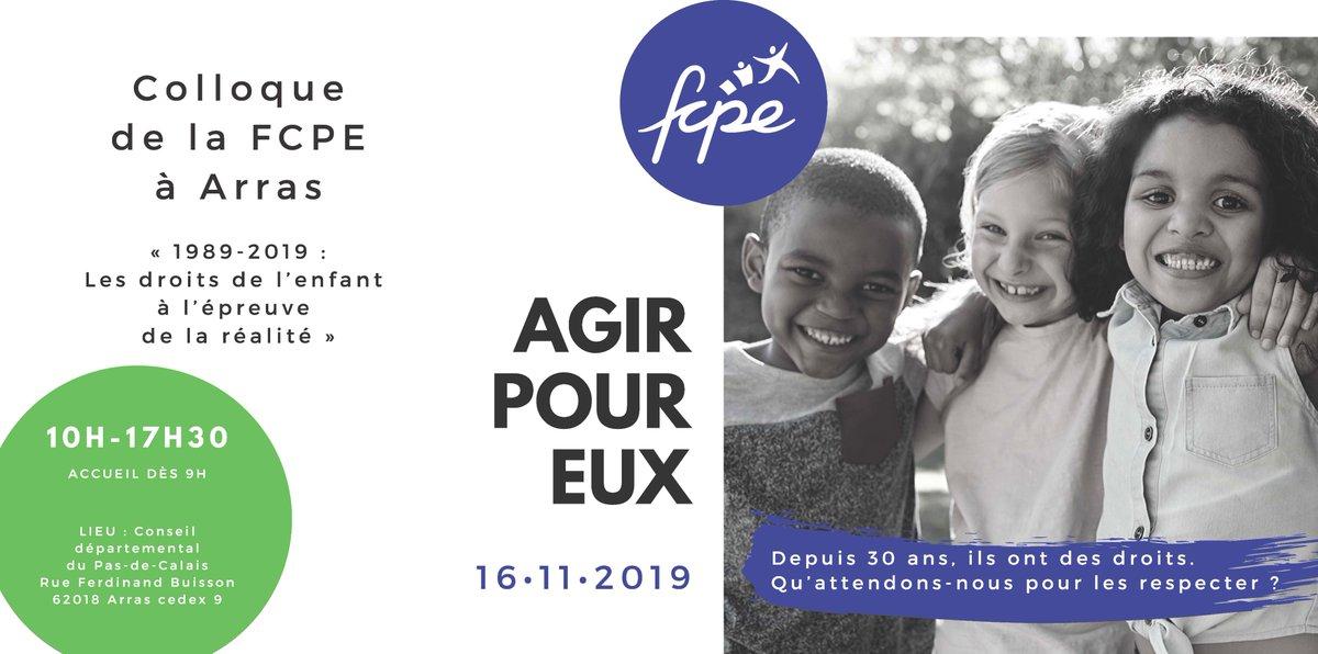 test Twitter Media - La FCPE au rendez-vous du 30e anniversaire de la Convention internationale des droits de l'enfant, samedi 16 novembre 2019 prochain à Arras. #colloqueFCPE https://t.co/YdeyAMd5wg
