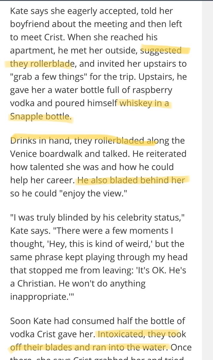 This article about a Christian comedian harassing women contains exactly as much sugar booze and rollerblading as you would expect.