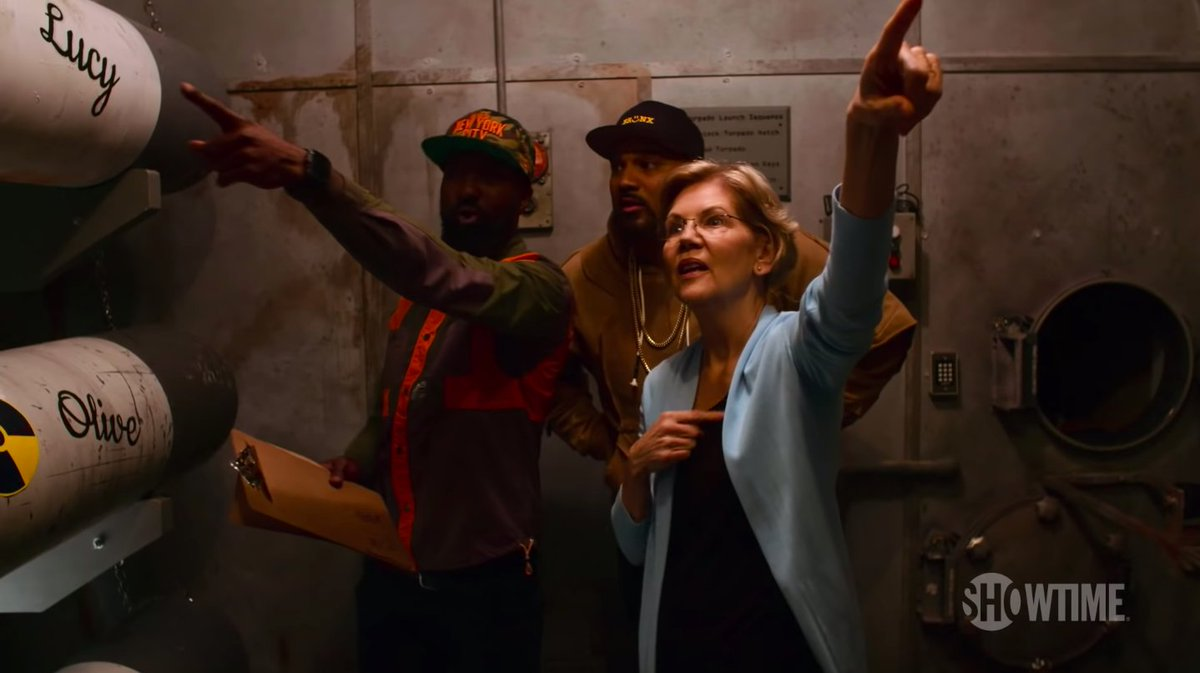 If you ever need to escape a haunted submarine, call Elizabeth Warren
