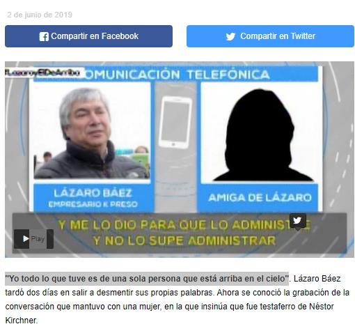 Lázaro Báez y su desmentida número 968732925.😒