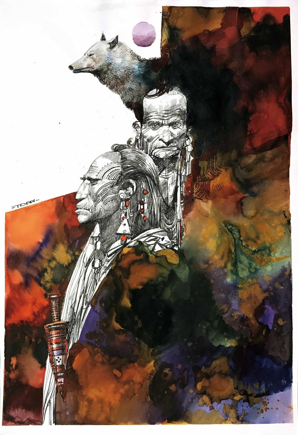 Comics Worldwide: Italy (pt. 2) Sergio Toppi was a remarkable Italian illustrator and comics author. A self-taught artist, Toppi was one of the great Italian comics innovators of the '60s and '70s. His best-known works would be Sharaz-De, The Collector, Blues, and Colt Frontier. https://t.co/kpPjqXfol4