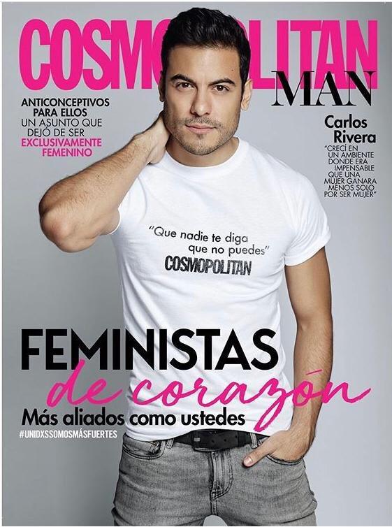 ¡En portada! @_CarlosRivera en la edición de aniversario de la revista @cosmopolitanmx 👌🤩