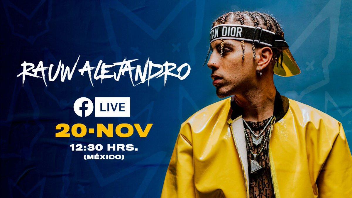 ¡No te lo pierdas! @rauwalejandro está listo, entra al Facebook Live. 🙌👌👀