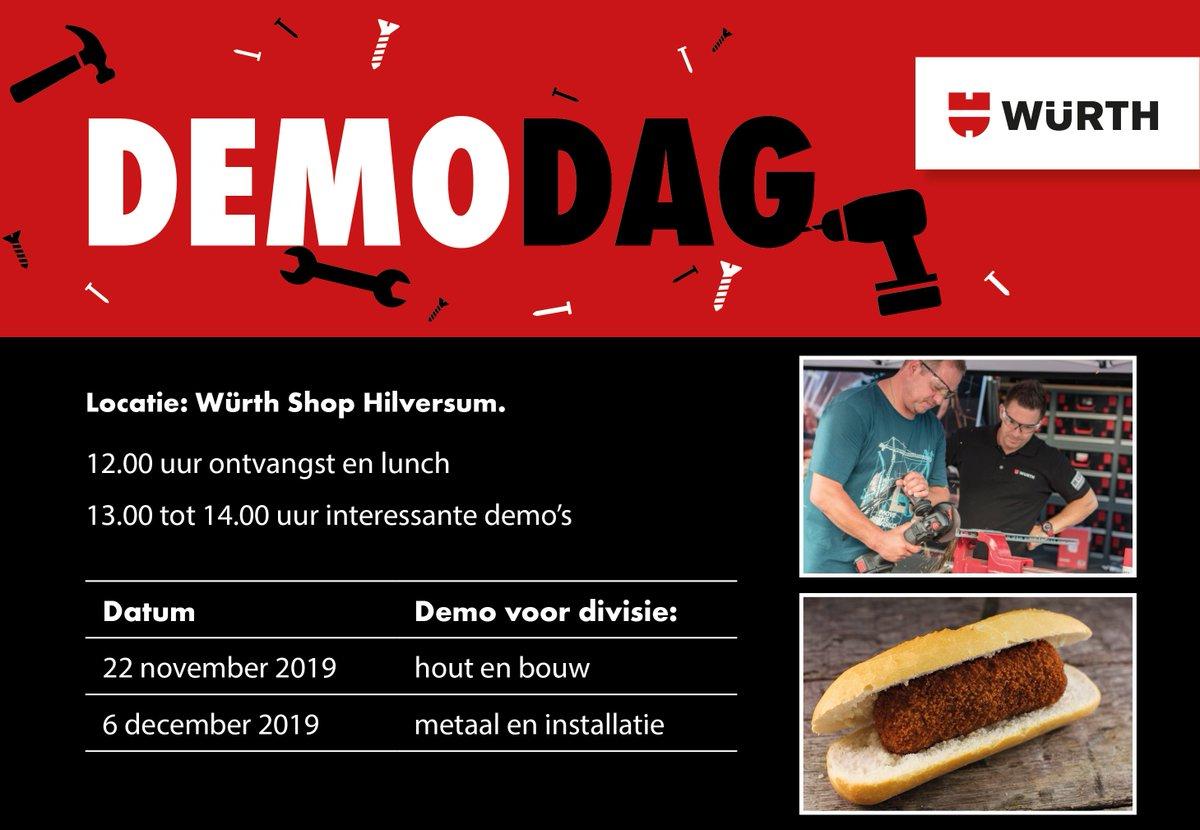 test Twitter Media - Morgen, 22 november: #DEMODAG voor de divisie hout en bouw bij Würth Shop #Hilversum. Speciaal voor deze dag hebben wij mooie acties samengesteld én ontvang je dubbele spaarpunten op de klantenpas! Tot morgen! https://t.co/PpX3cLbjAf https://t.co/CIYJB4gcRE
