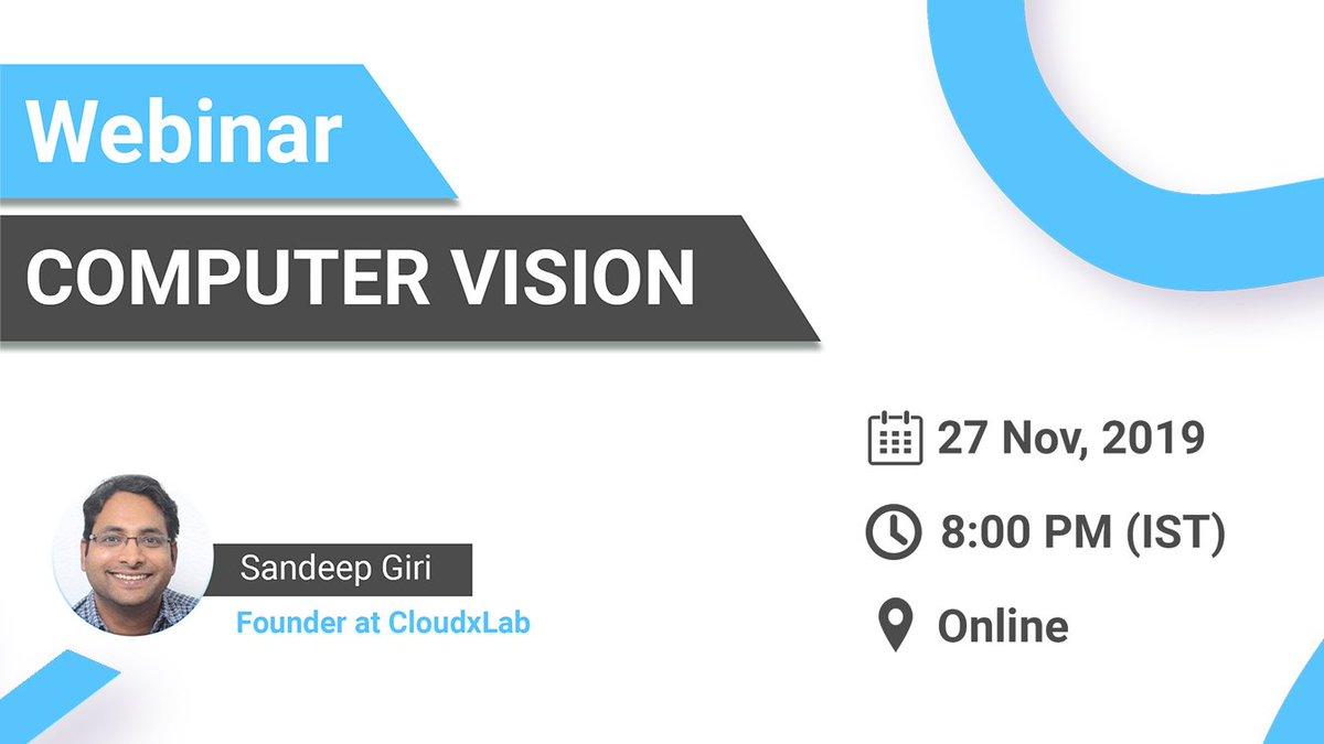 test Twitter Media - Free Webinar on Introduction to Computer Vision  Registration Link: https://t.co/0dKYmqVPTk  #education #free #course #webinar #datascience #datamining #machinelearning #deeplearning #bigdata https://t.co/mRyfQG3Gat