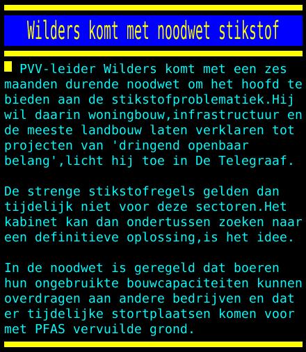test Twitter Media - Wilders komt met noodwet stikstof https://t.co/kERMHIFuxl
