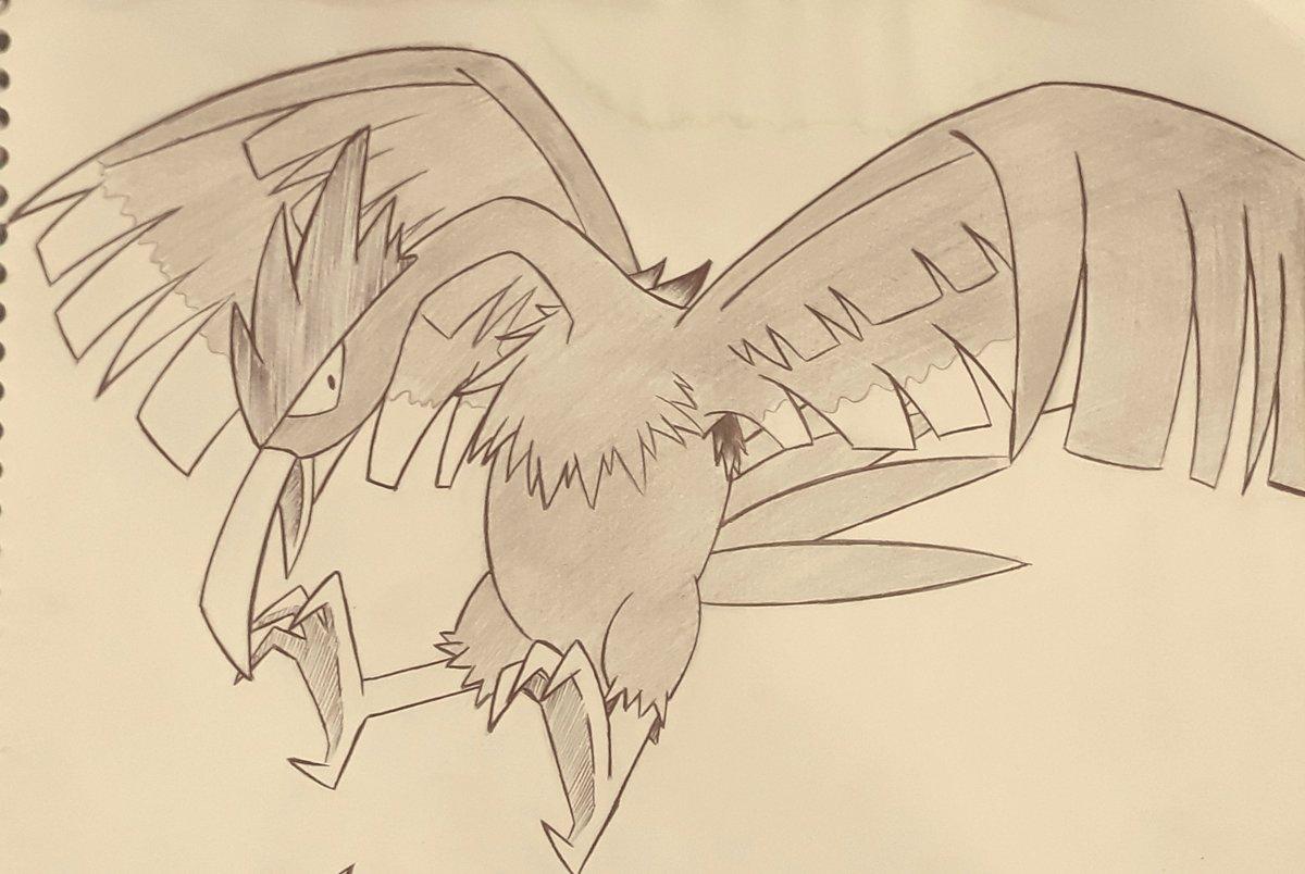 10- Least favorite pokemon: Fearow 🦅  #inktober #pokemon #poketober
