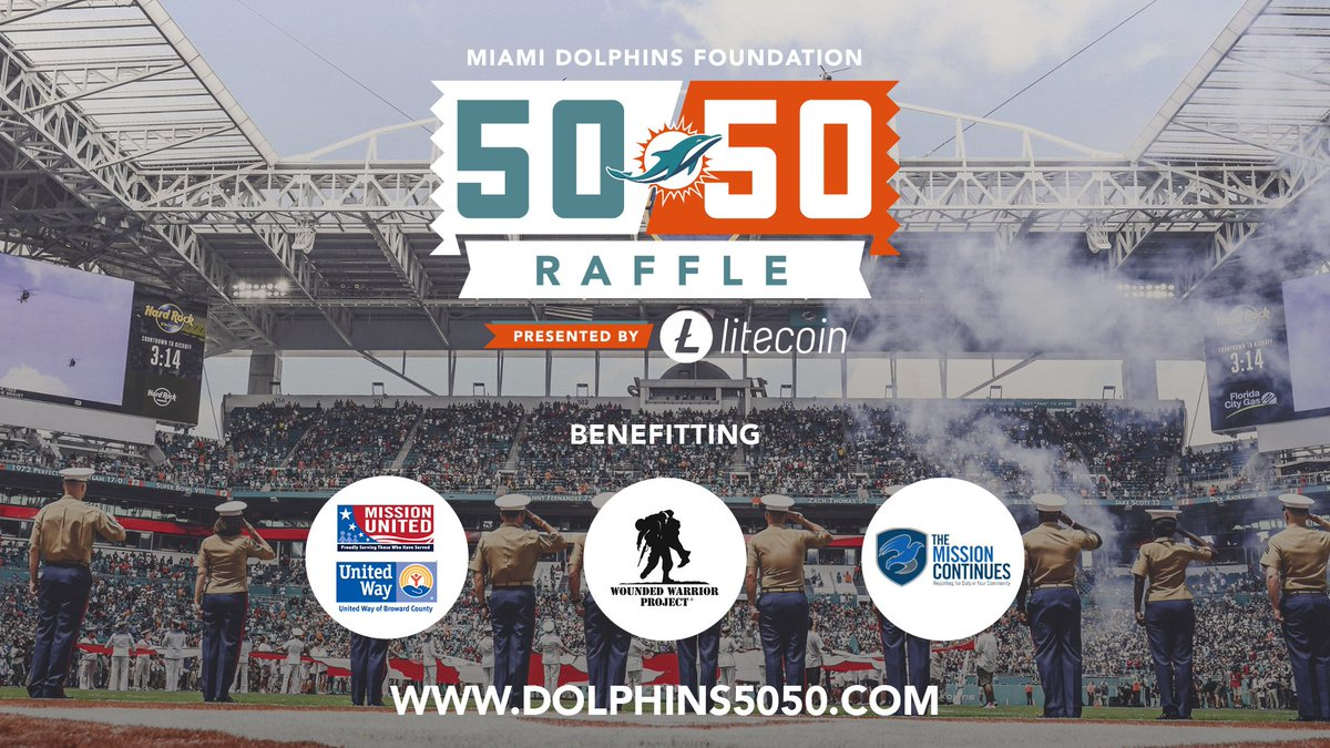 test Twitter Media - For #BUFvsMIA, funds raised from our 50/50 raffle will be donated to @missioncontinue, @wwp and @UnitedWay. #SaluteToService  Get your tickets today, presented by Litecoin >> https://t.co/0y5qHoNL32 https://t.co/mkBUrwv4KR
