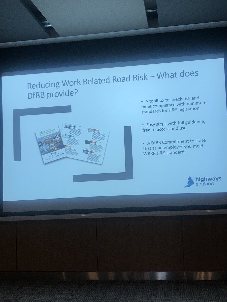 test Twitter Media - @DfBBprogramme being discussed today by @HighwaysEngland at the @ciltuk #ciltsafety event - it really is worth a look for some great tips on how to approach occupational road risk https://t.co/jf6S9ur6Fo