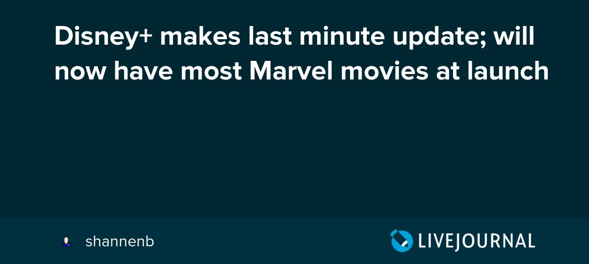 test Twitter Media - Disney+ makes last minute update; will now have most Marvel movies at launch https://t.co/el4wVmY0Pf https://t.co/rRtLPyyX88
