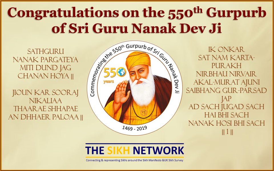test Twitter Media - ੴ  ਵਾਹਿਗੁਰੂ  Congratulations all on this 550th Prakash Gurpurb of Sri Guru Nanak Dev ji, may his blessing & teachings touch our hearts, minds & souls. As he turned the light in darkness & showed the world the path to enlightenment  truth, equality and love for all of humanity. 🙏🏽 https://t.co/HvHtqPWF5B