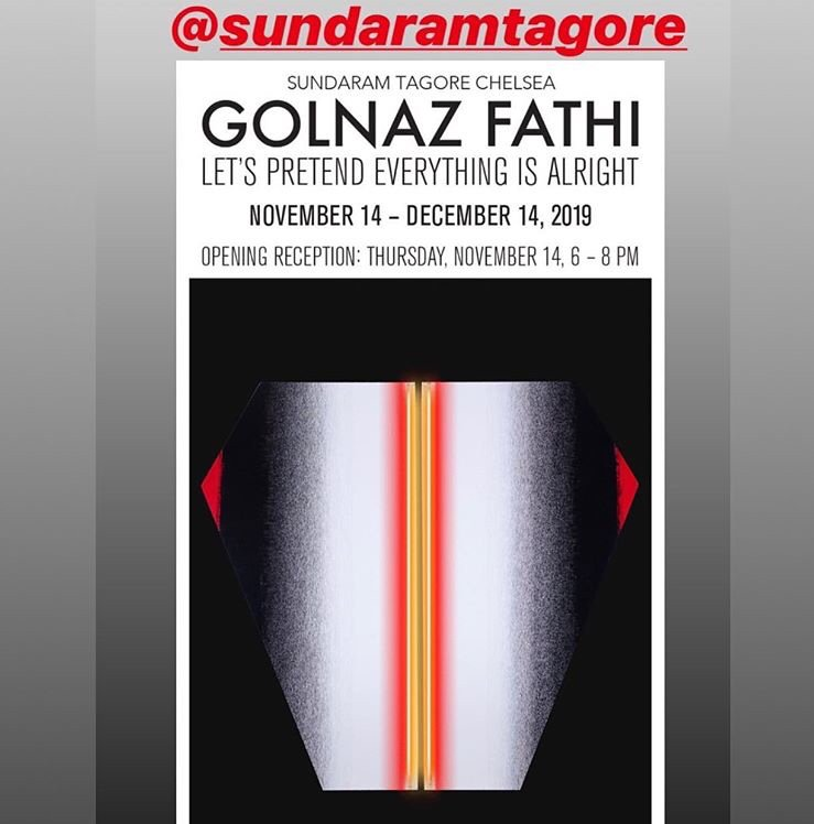 test Twitter Media - My friend Golnaz Fathi, Iranian artist extraordinaire, has her solo exhibition in New York this week. But Trump's #TravelBan prevents her from being here. Go see it y'all.  @SundaramTagore Galleries p.s. One of her paintings is on display at the @metmuseum https://t.co/qj0a9jrL4E