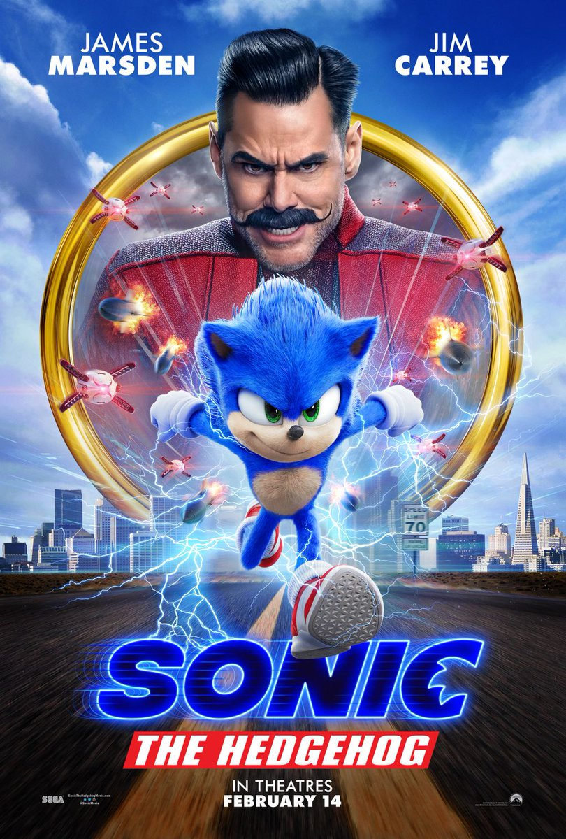 test Twitter Media - Sonic The Hedgehog paints the town blue in the brand new #SonicMovie poster! #CatchSonic in D-BOX February 14!  //  Sonic The Hedgedog fait furreur avec sa toute nouvelle affiche #SonicLeFilm ! Voyez-le en D-BOX le 14 février! https://t.co/6wsd02PBHU