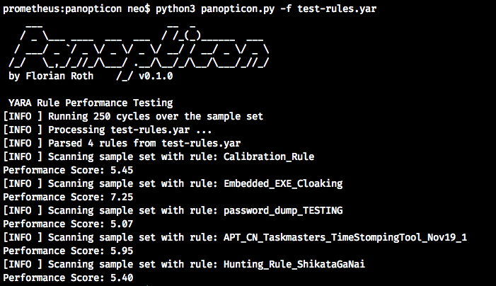 """I started work on a new project named """"Panopticon"""" - a YARA rule performance testing tool that invokes hundreds of scans on a sample set to detect badly performing YARA rules in a set https://t.co/gY2y4zOv8z"""
