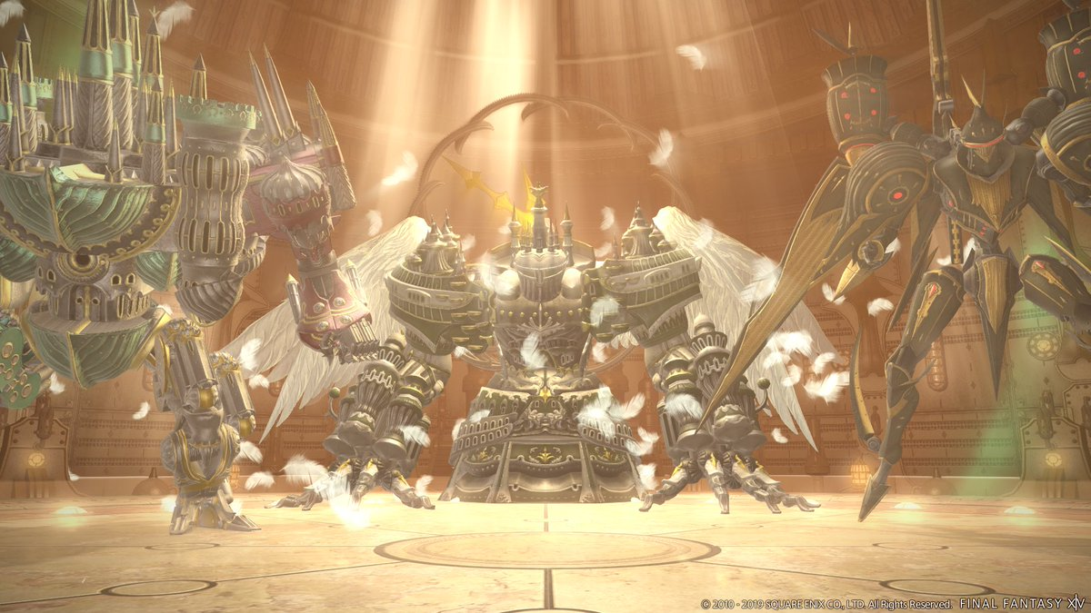 test Twitter Media - #FFXIV Patch 5.11 is live and offers something for everyone! 🙌  Whether you're working hard to rebuild the Firmament⚒️, or facing mechanical menaces in The Epic of Alexander (Ultimate)⚔️, there's no shortage of excitement to be had! Which are you tackling today? https://t.co/uDxu87uSej