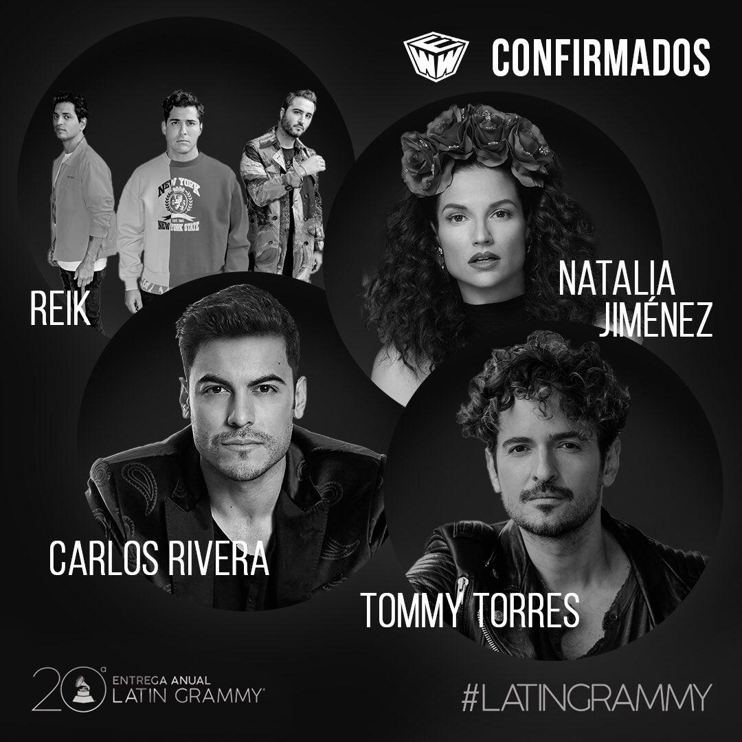 Talento Westwood ¡presente! @NataliaJimenez @ReikMx @_CarlosRivera y @Tommy_Torres en los @LatinGRAMMYs 👏🙌👌 #20AñosDeExcelencia