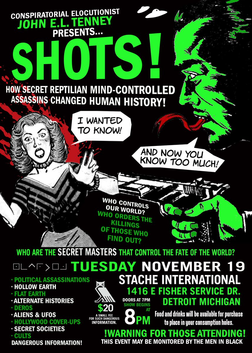 test Twitter Media - If your event flyers aren't this insane... I don't even know what you're doing.  #paranormal #ghosts #UFO #conspiracytheory #monsters #cryptozoology #weirdo https://t.co/JBaLTRjXYr