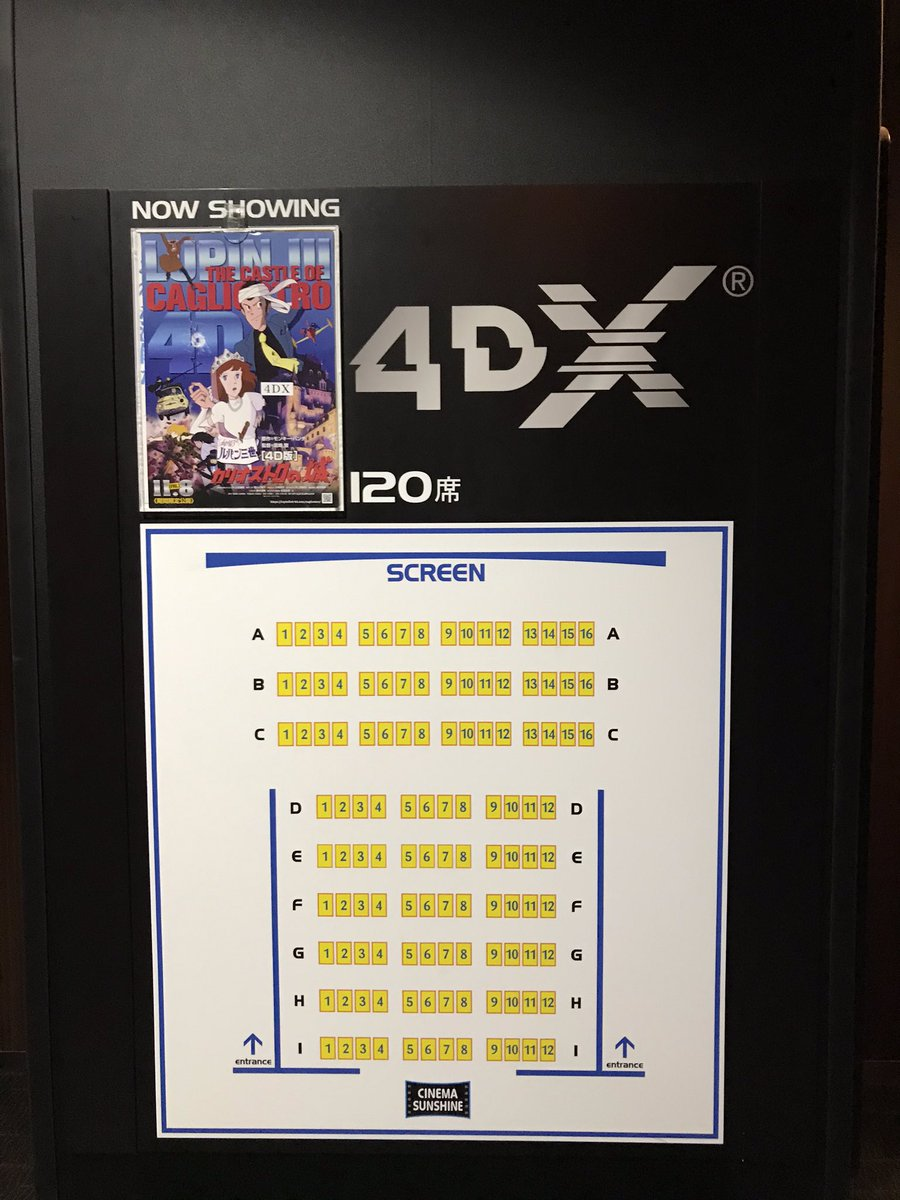 test ツイッターメディア - シネマサンシャイン沼津「ルパン三世カリオストロの城」4DX鑑賞。 言わずと知れた宮崎駿監督の超名作を4DXで。カリ城と4DXの相性は抜群です!序盤のカーチェイスからラストまで圧倒的な没入感に浸れます。TVでしか観た事がない人はスクリーンで鑑賞するとその完成度の高さにきっと驚きますよ。 https://t.co/halTyRCA9q