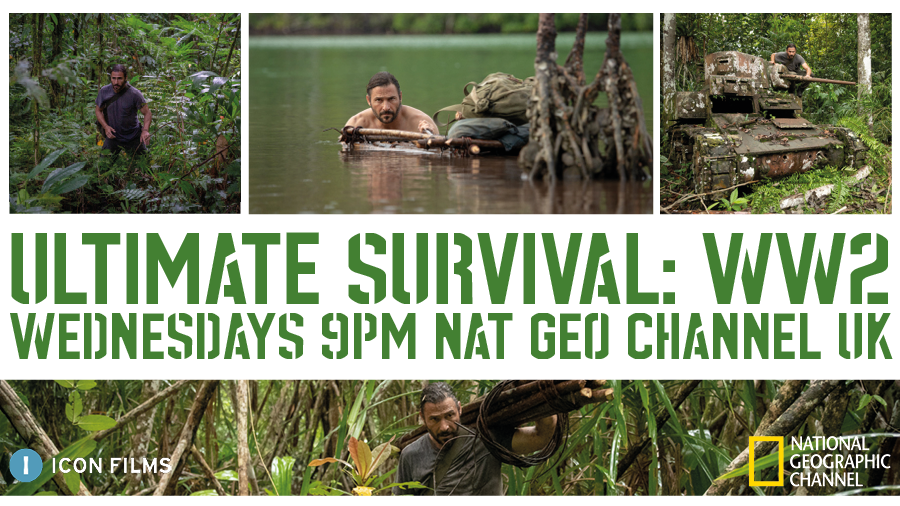 Hazen takes on the treacherous Solomons jungle in tonight's #UltimateSurvival WW2, retracing a lone soldier's dangerous journey home at 9pm on @NatGeoUK https://t.co/Q7mfkYR9c3