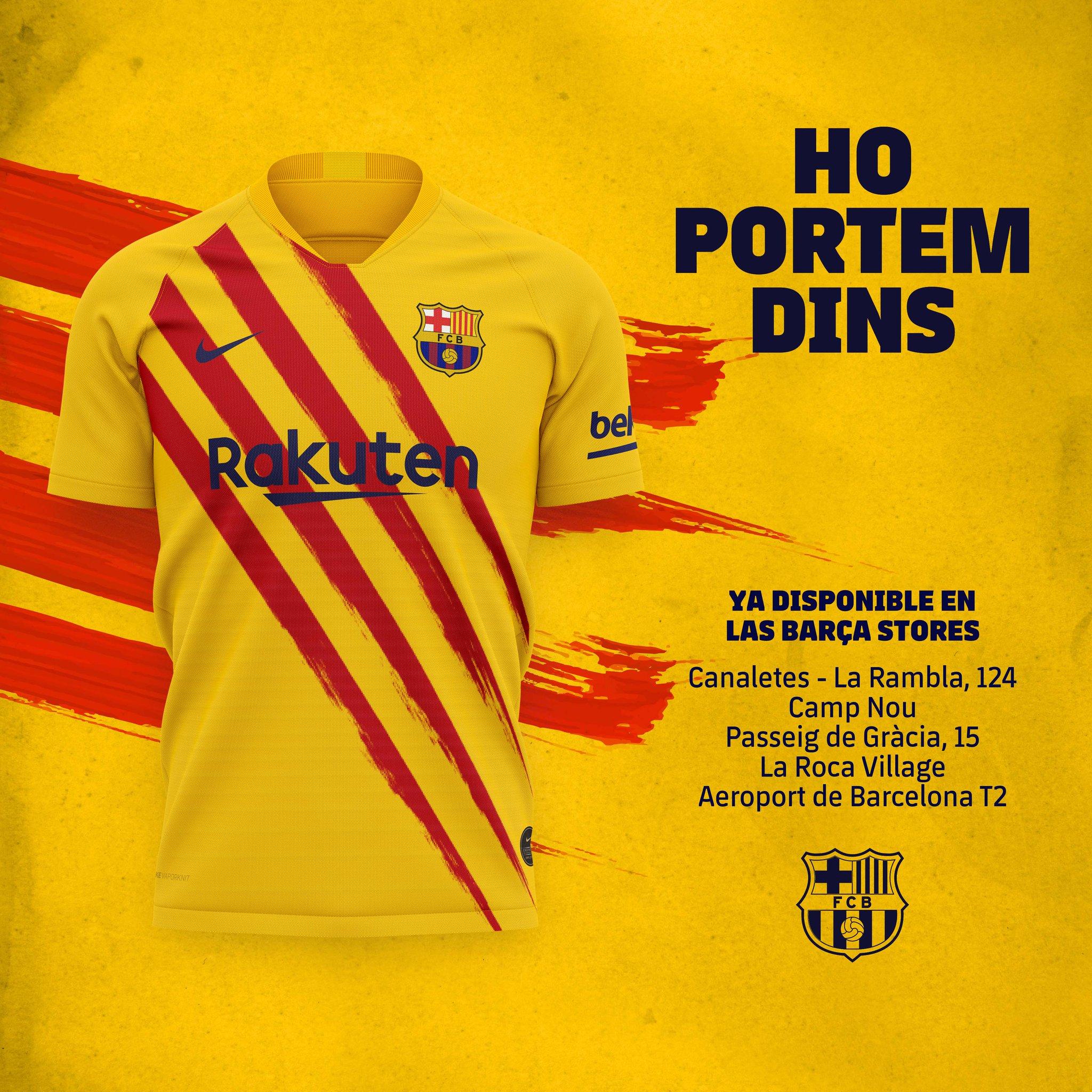 Ya tienes disponible la nueva equipación del Barça en nuestra Barça Store del Camp Nou https://t.co/Z4c6DTbapy