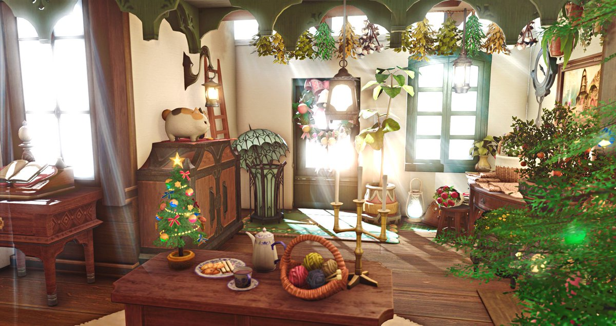 test Twitter Media - I visited @Raiyk_ffxiv  house! It is the crowded feeling that I like, the goods fills whole room, let the room be full of full-bodied life breath. These green plants and light make the room more lively~Please excuse my coming unannounced https://t.co/htdNNDAFO7