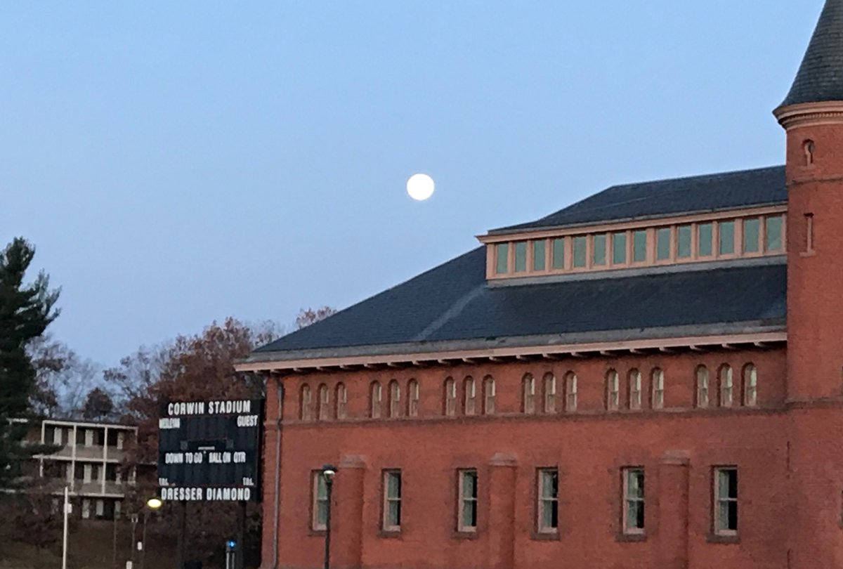 "test Twitter Media - Cold this morning @wesleyan_u -- but a beautiful moon overlooking campus. ""The moon said oh darkness my work is done/I've poured this bottle of light from the sun"" (alumna @DarWilliamsTour ) https://t.co/5UINTXiKvf"
