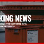 BREAKING: Royal Mail wins High Court injunction to block potential strikes by postal workers.  #RoyalMail https://t.co/GJy2yONE7i