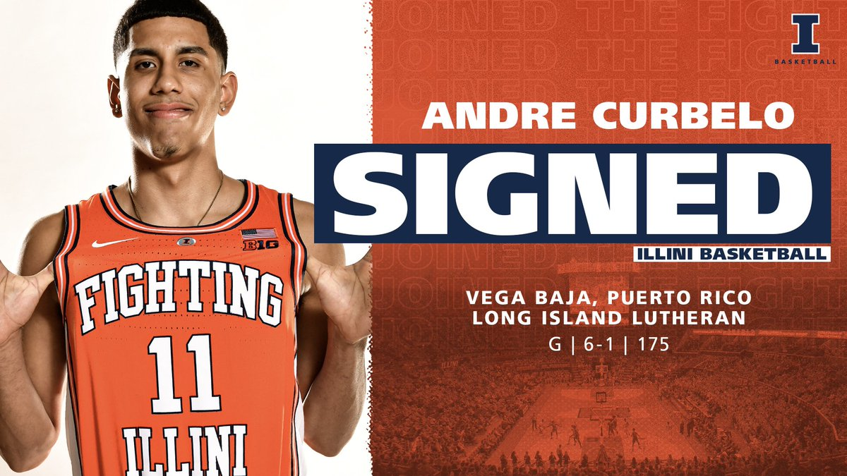 test Twitter Media - SIGNED ✍️  🔶 4-star recruit 🔶 USA Today 25-player All-USA Preseason Team  🔶 No. 46 (Rivals), 54 (ESPN), 55 (247Sports)  🔶 Puerto Rico U19 National Team  Welcome to the #Illini family, @papicurbelo11!   #JointheFight https://t.co/E8AX7HhOg8