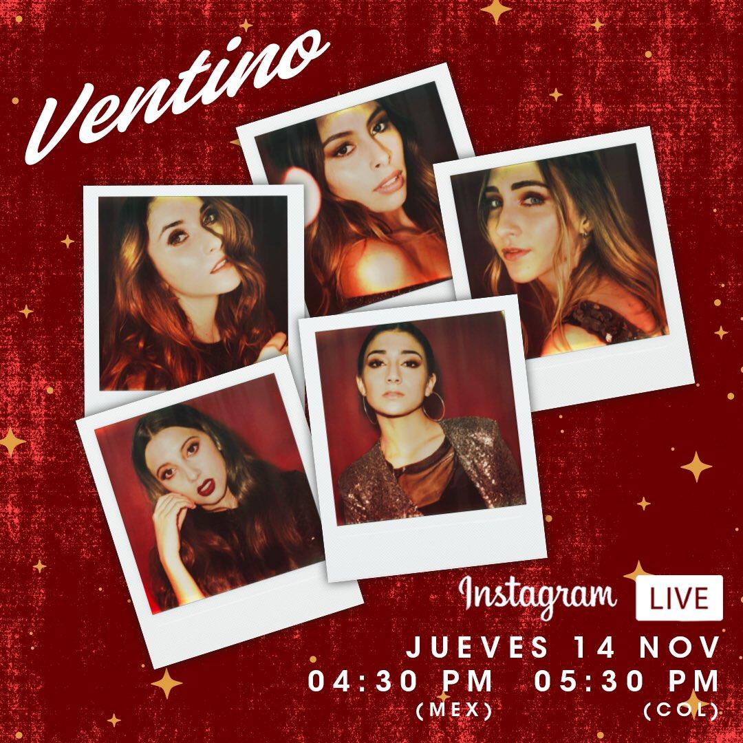 Llamando a todos los #Ventiners 🗣 No se pierdan mañana el Instagram Live con @Ventinoficial 👌