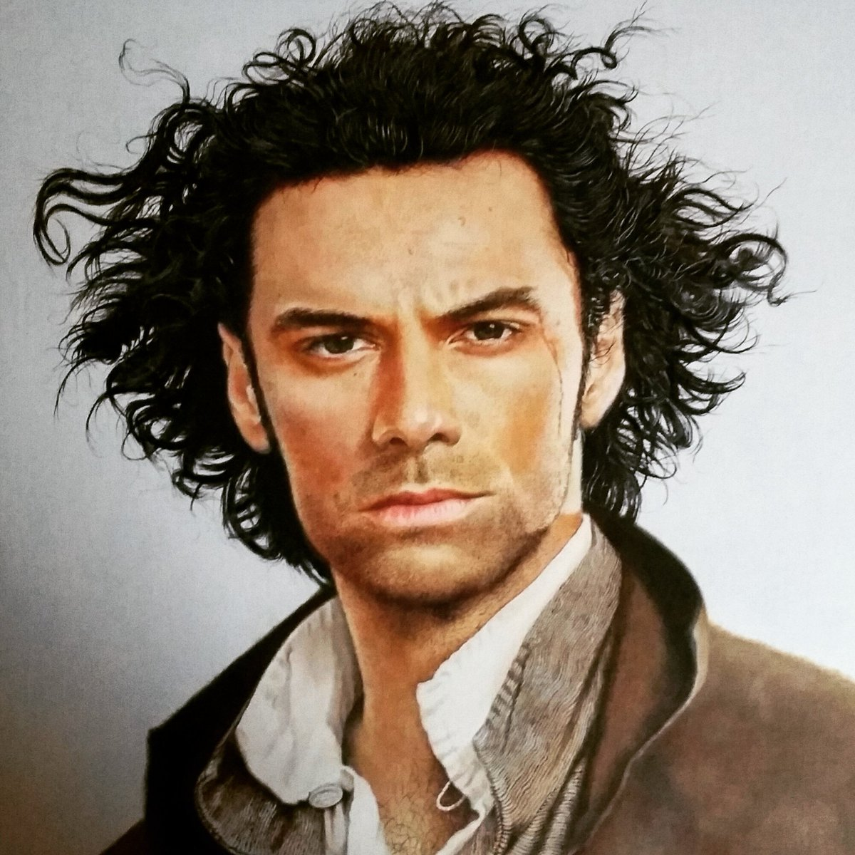 test Twitter Media - @NINightOwl My portrait of Aidan Turner as Poldark. Painted in oils on a wood panel. I emphasised his hair a little in this one. #portraits #artgallery #portraitpage #AidanTurner https://t.co/1bA4s5UlAr
