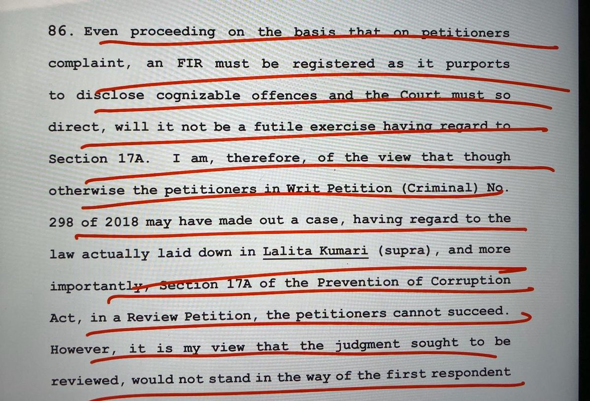 Justice Joseph of the Supreme Court has opened a huge door into investigation of the RAFALE scam.   An investigation must now begin in full earnest. A Joint Parliamentary Committee (JPC) must also be set up to probe this scam.   #BJPLiesOnRafale